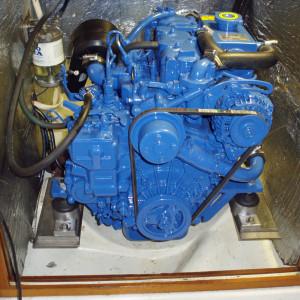 Albin 78 Cirrus med Solé Diesel Mini-17 och adapter till VP 110S