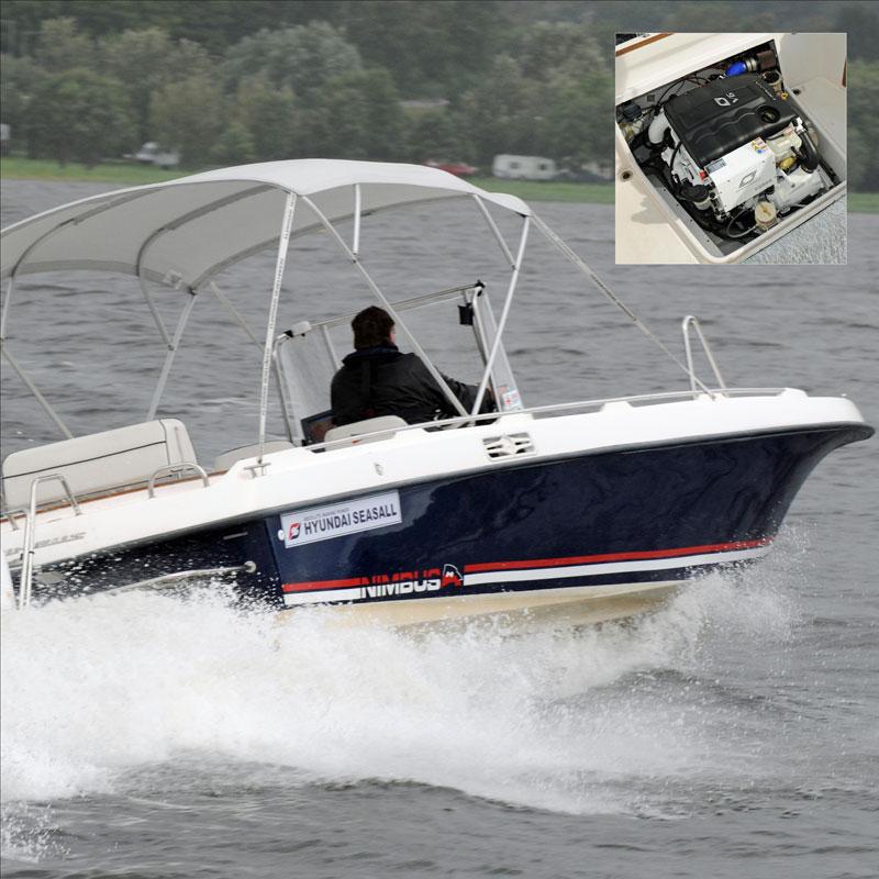 Nimbus Max 2 med Hyundai SeasAll S250S med Mercruiser Bravo 1 drev