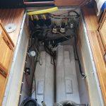 Tomt motorutrymme i en Scand 29 Baltic