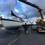 Segelbåt LM27 med ny motor från Solé Diesel installerad